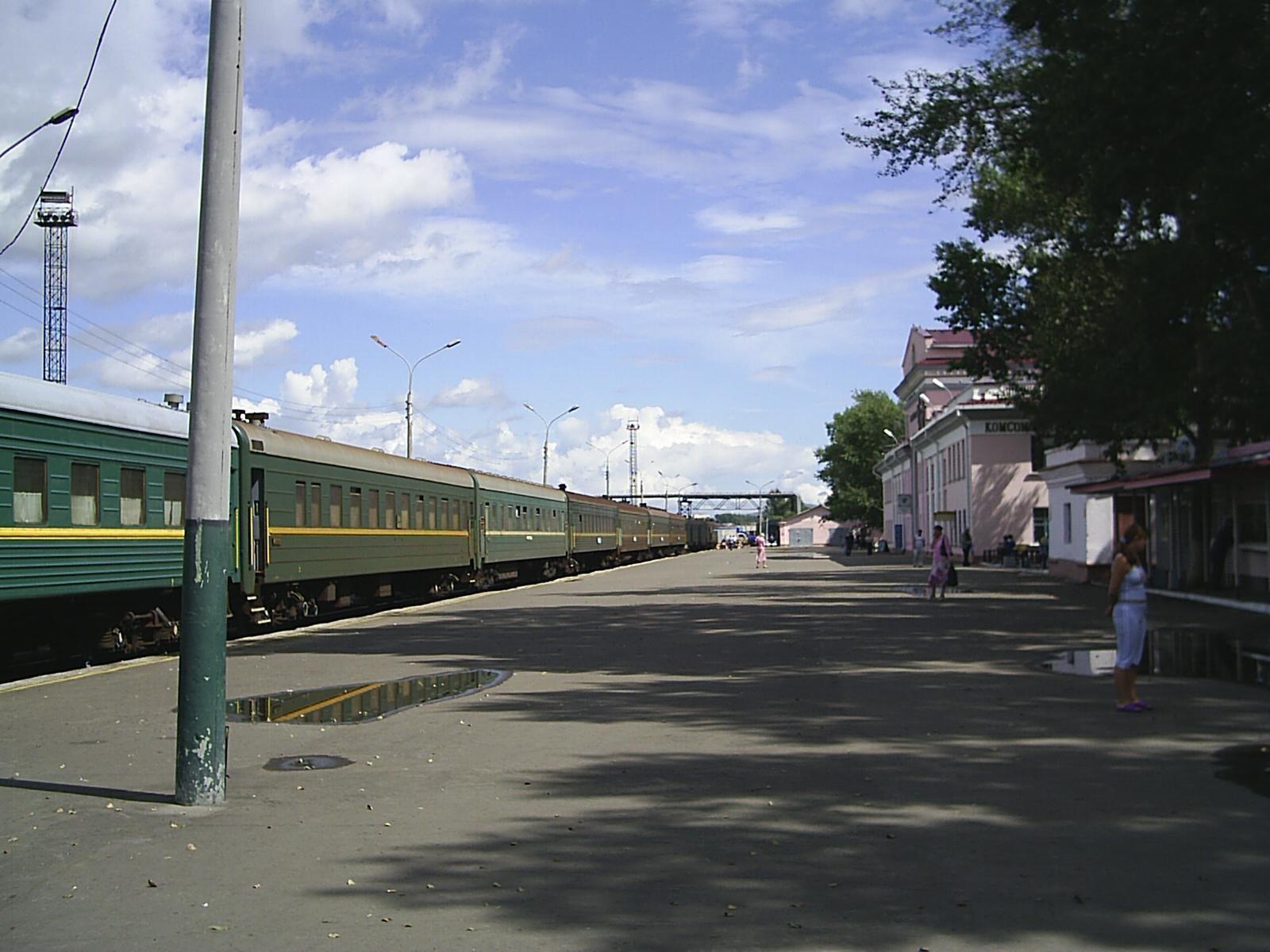 Na peronu v Komsomolsku na Amurju