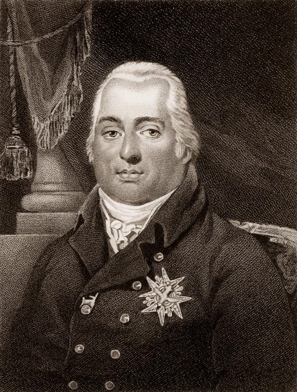 Ludvik XVIII. (1755-1824), mlajši brat Ludvika XVI., se je za francoskega kralja razglasil leta 1795. V izgnanstvu je bil od leta 1791 do padca Napoleona aprila 1814.