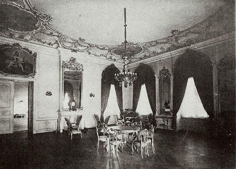 Notranjost dvorca v Jelgavi