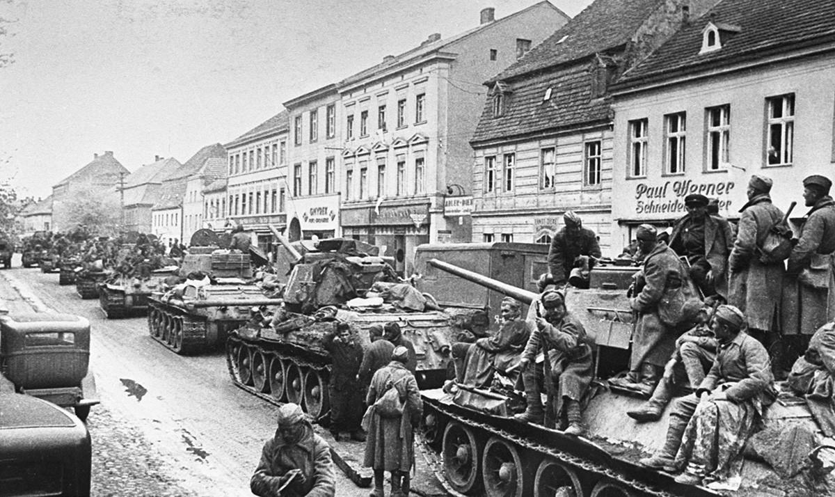 Наступление советских войск в Германии.