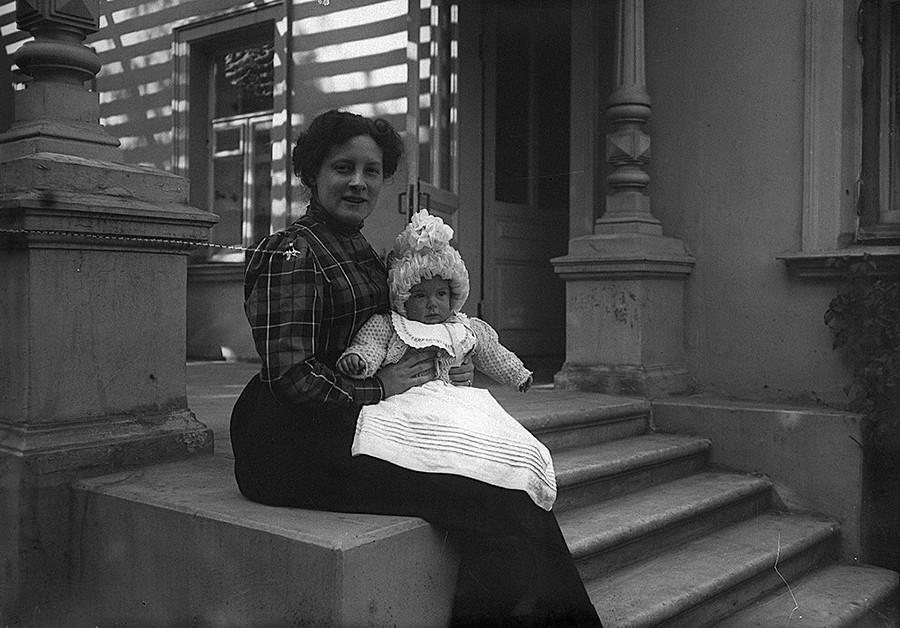Porträt einer Dame mit Sohn