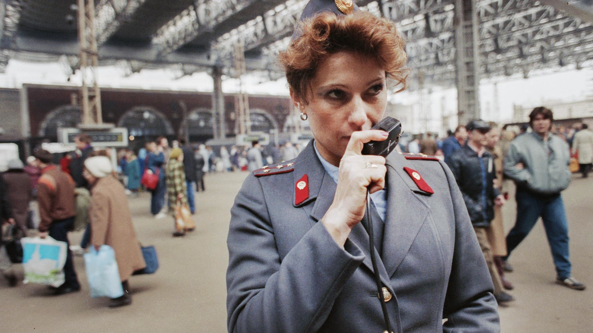 Stanica milicije pored Kazanjske željezničke stanice u Moskvi.