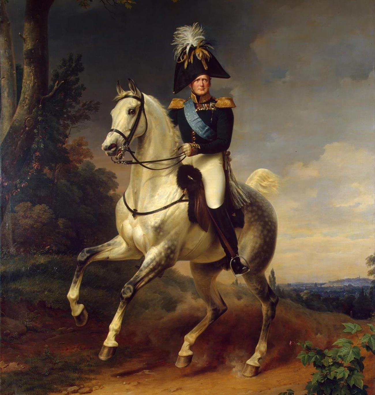 Портрет Александра I (1777—1825) на коњу.