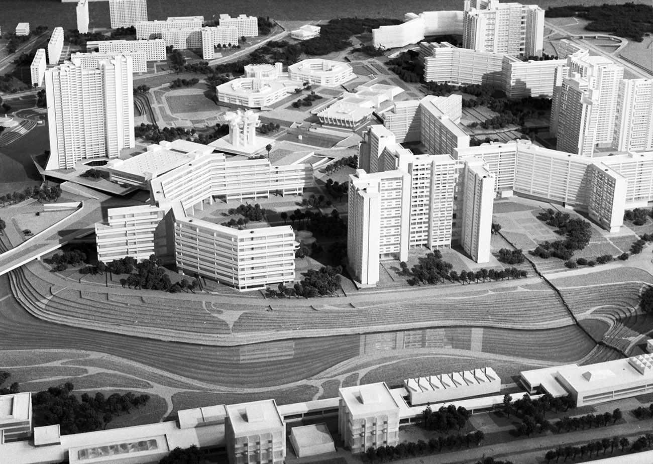 Строителство на новия микрорайон в Северно Чертаново - макет.