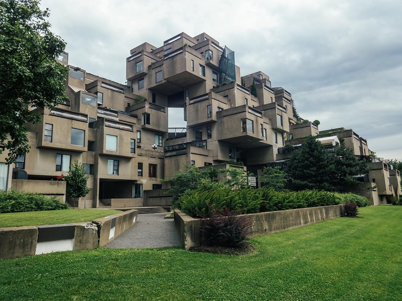 Хабитат 67 в Монреал, Квебек.