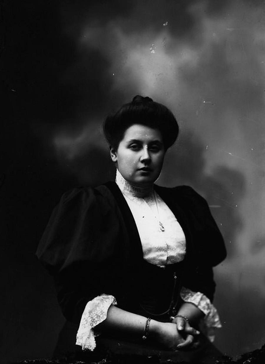 Anna Aleksándrovna Vitubova, dama de honra da imperatriz Aleksándra Fiódorovna.
