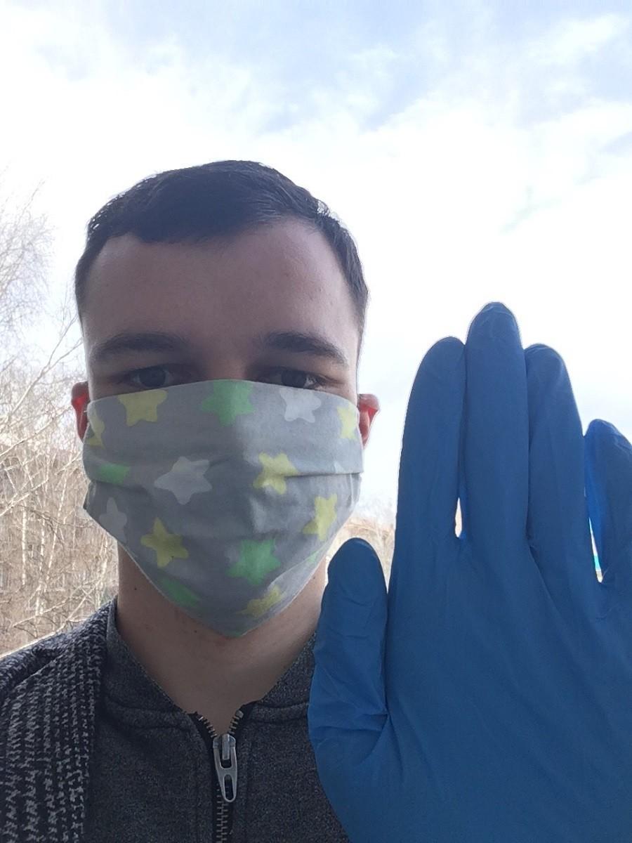 Malgré quelques difficultés à trouver des gants à Belebeï, suite à l'obligation d'en porter dans les transports , ainsi qu'un masque, Julien semble être enfin protégé.