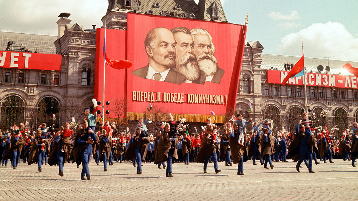 A Soviet-time parade on Red Square