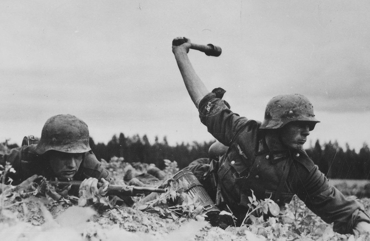 1941年の東部戦線のドイツ兵。