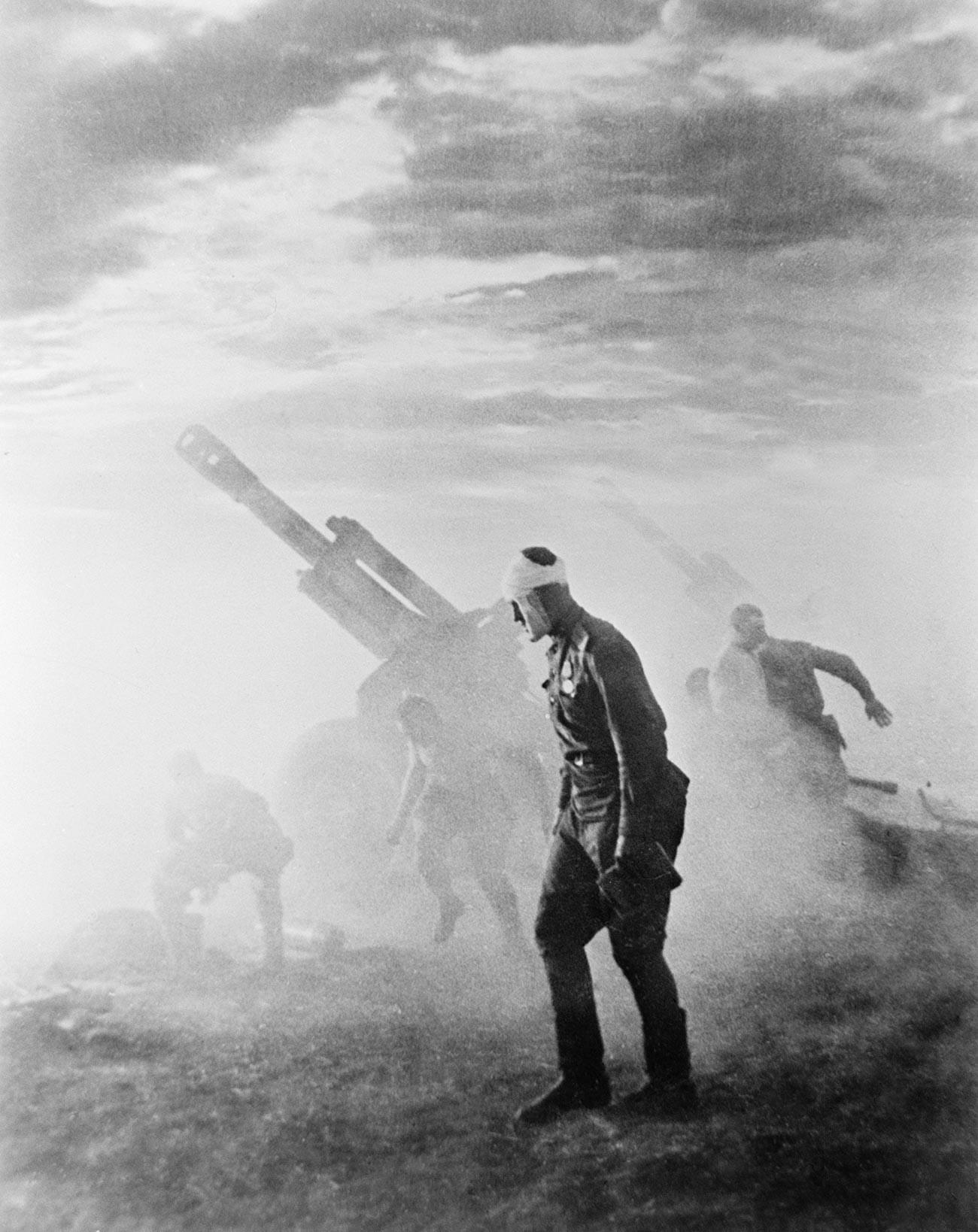 Artillerie-Soldaten der Zweiten Belorussischen Front, 1944.