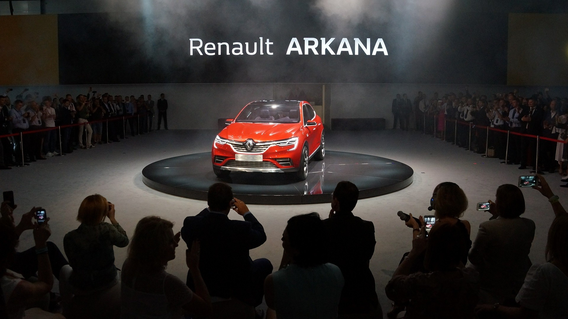 Le Renault Arkana exposé au Salon automobile international de Moscou en août 2018