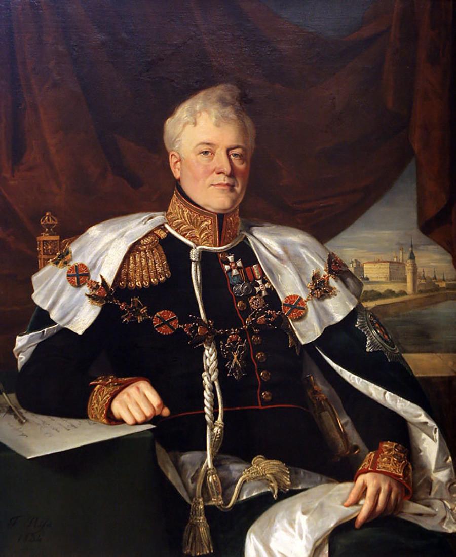 モスクワ市長のドミトリー・ゴリツィン公(1771年-1844年)