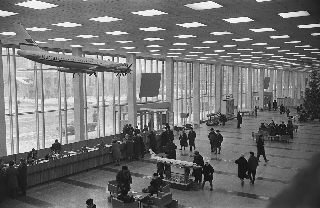 Inside the air terminal.