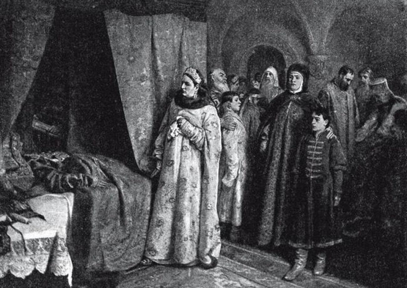 Enterro de Fiódor Aleksêievitch.