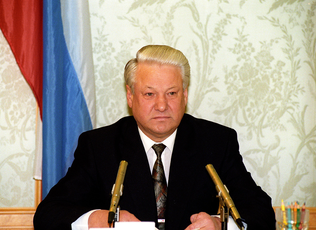 O ex-presidente russo Borís Iéltsin.