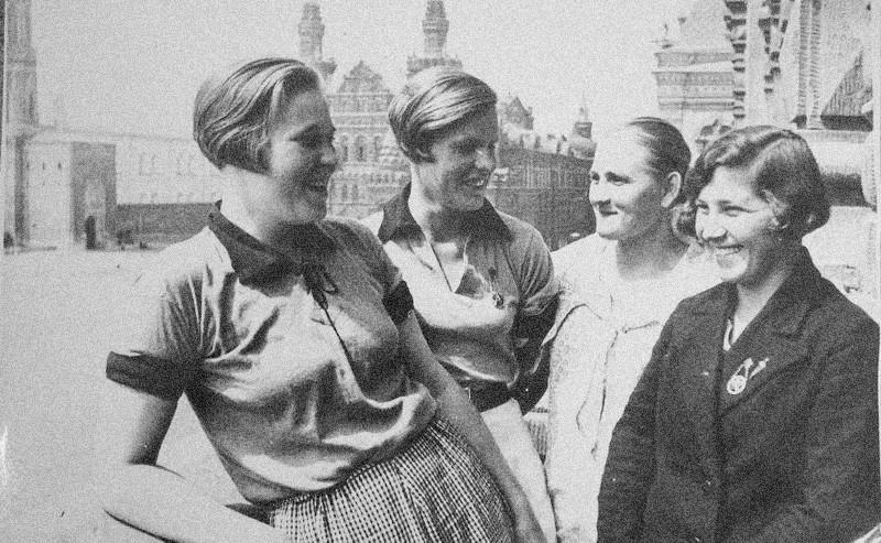 Membres du Komsomol (organisation de la jeunesse communiste)