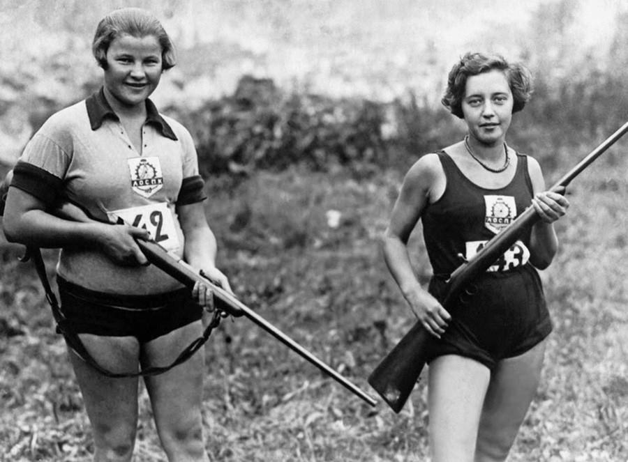 Des athlètes