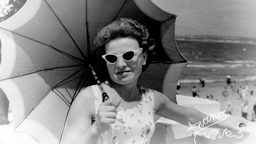Señora con paraguas