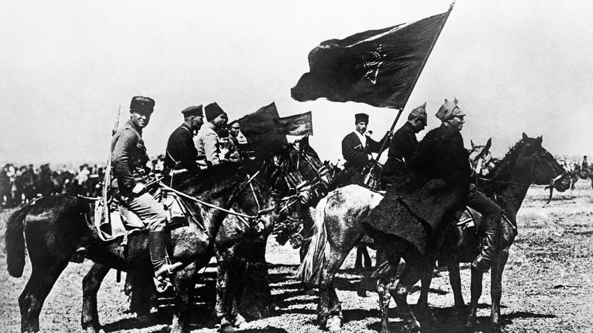 Војници Прве коњичке армије 1920. године, у време Грађанског рата.