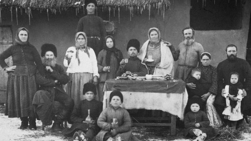 Potret keluarga cossack, 1900.