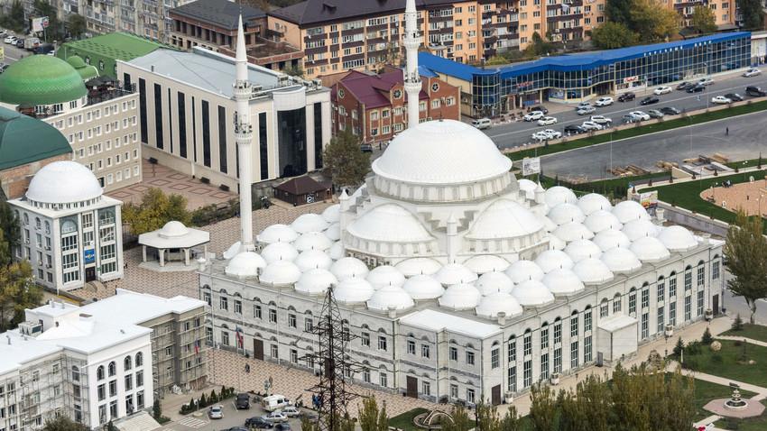 Majid Juma di Makhachkala, Republik Dagestan, Rusia.