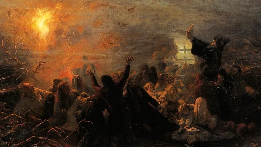 """Картина """"Самозапалващите се"""", 1882г."""