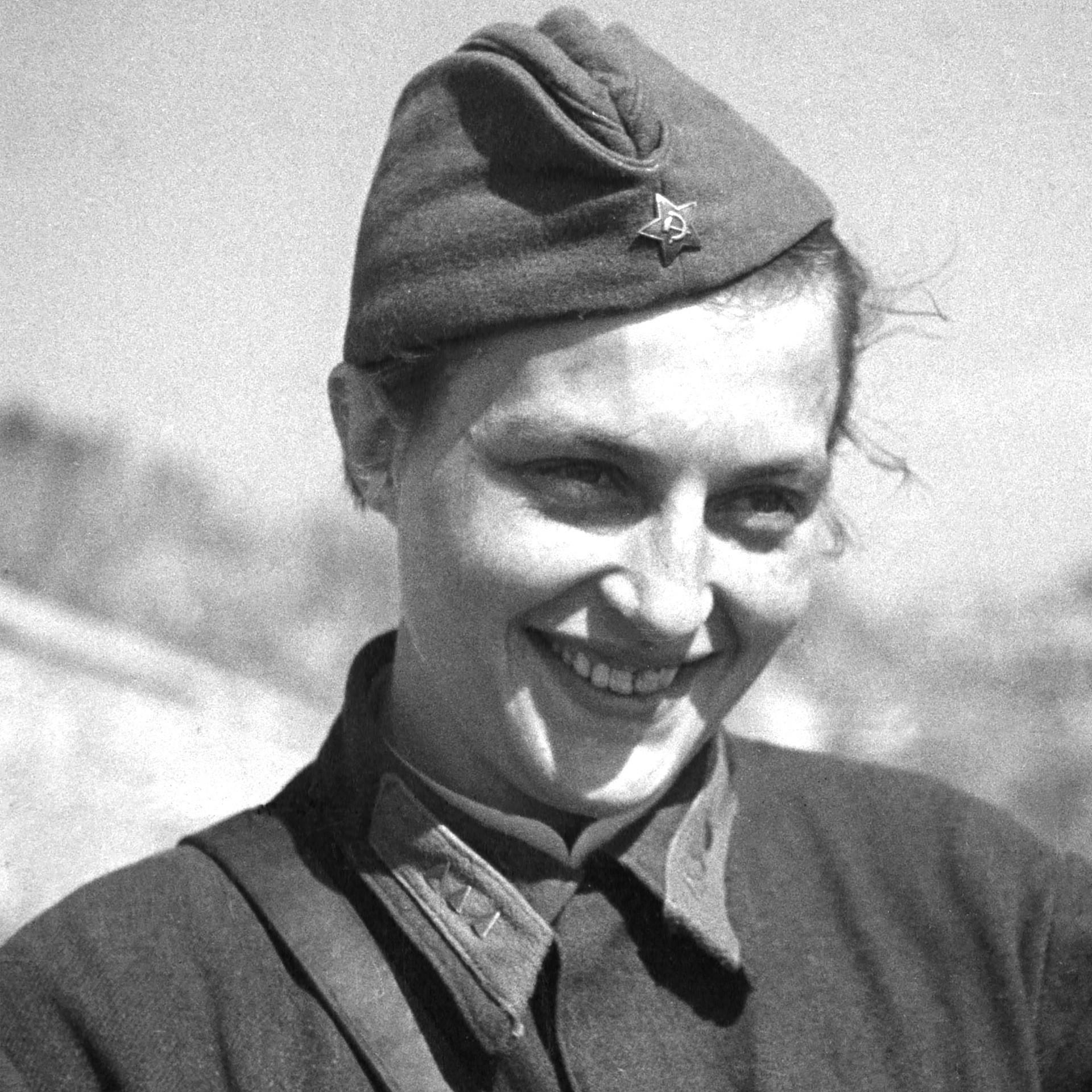 Sniper Lyudmila Pavlichenko.