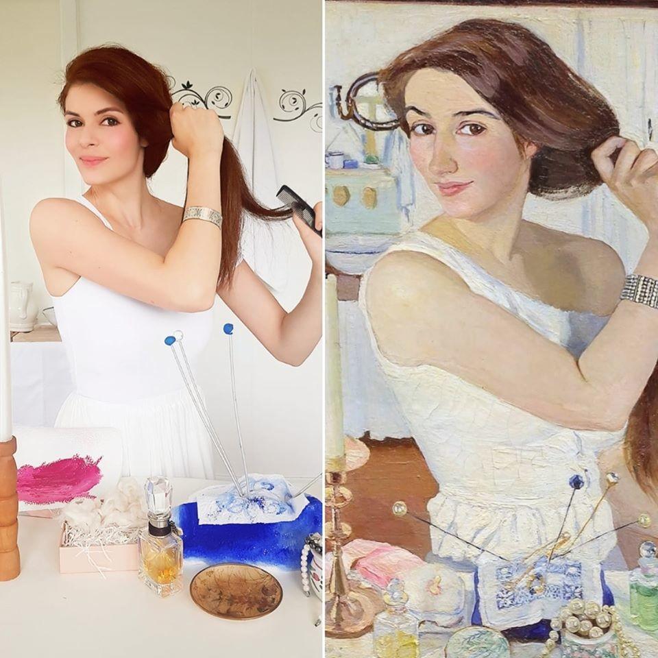 Zinaida Serebryakova. At the Dressing Table. Self-portrait