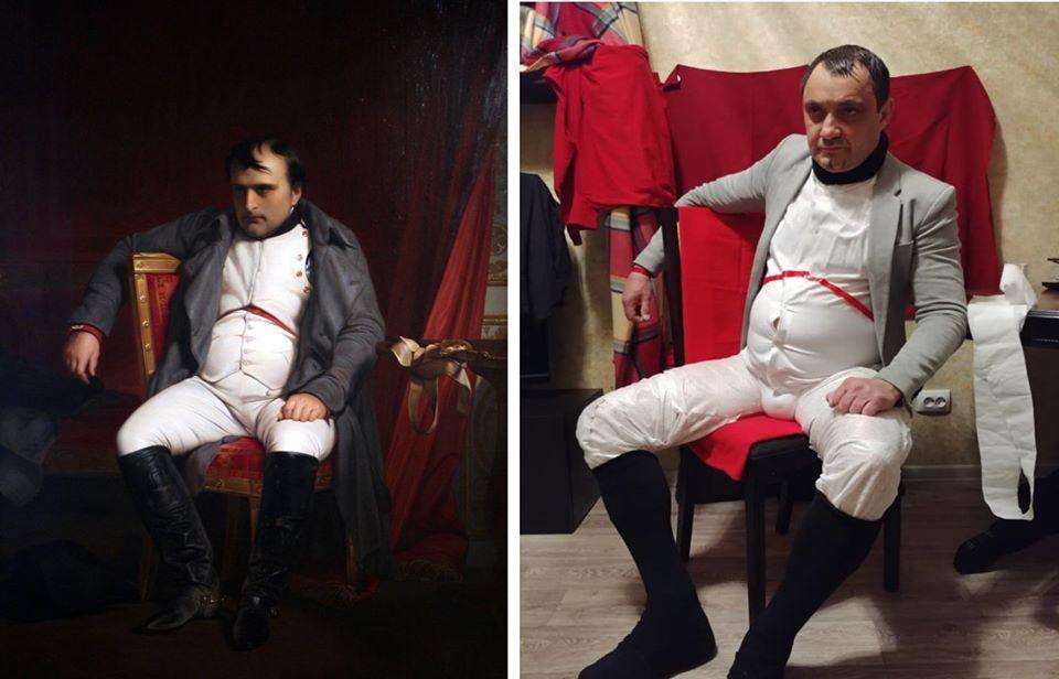 Paul Delaroche. Napoleon Abdicating in Fontainebleau