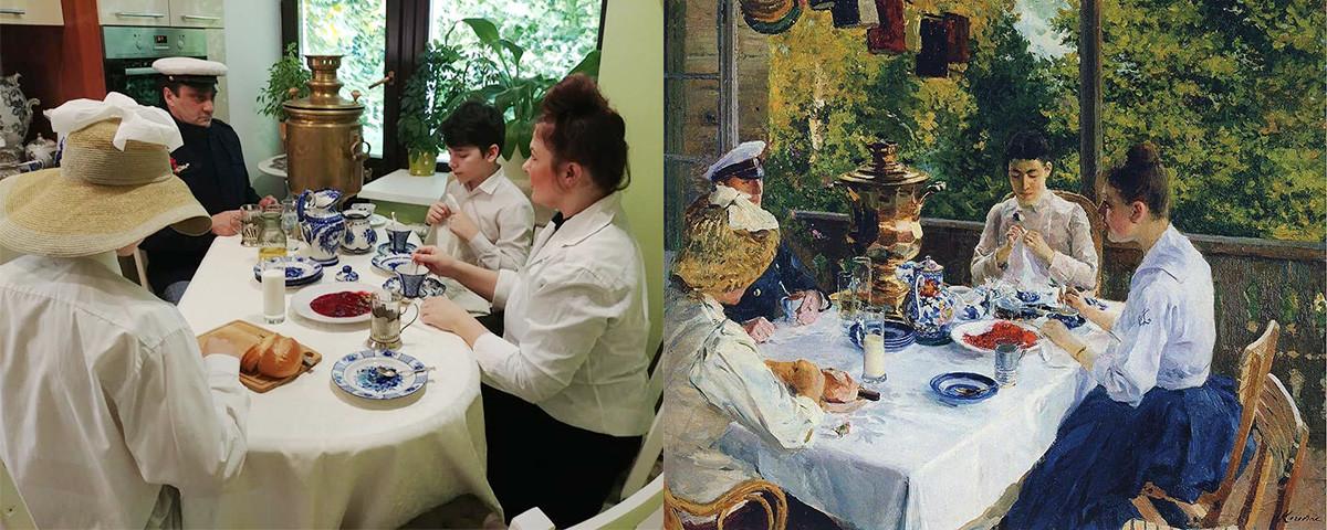 Konstantin Korovin. At the Tea Table