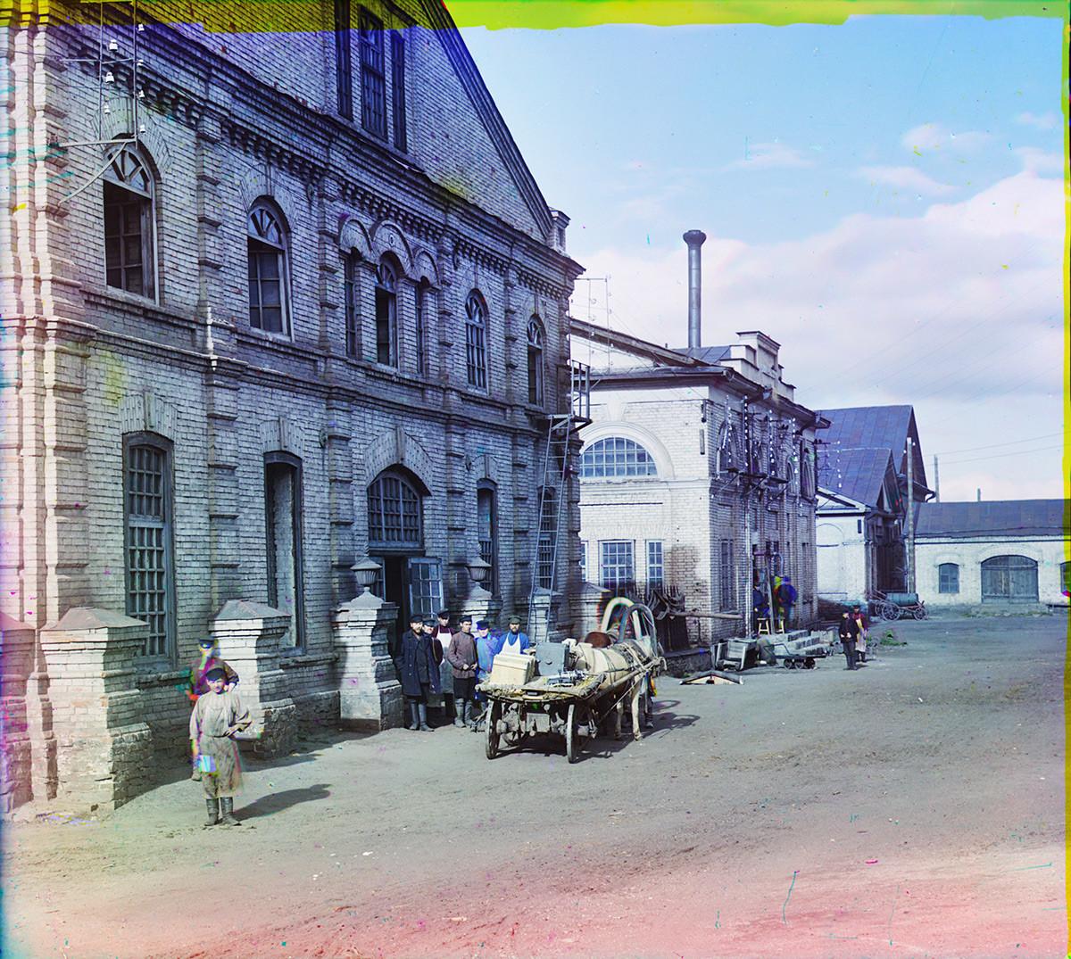 Fábrica de Kasli. Talleres para la producción de obras de hierro fundido. Verano de 1909.