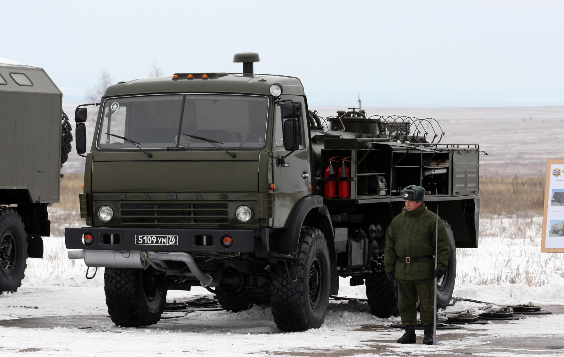 Postaja za dekontaminacijo in razplinjevanje ARS-14KM na tovornjaku KAMAZ