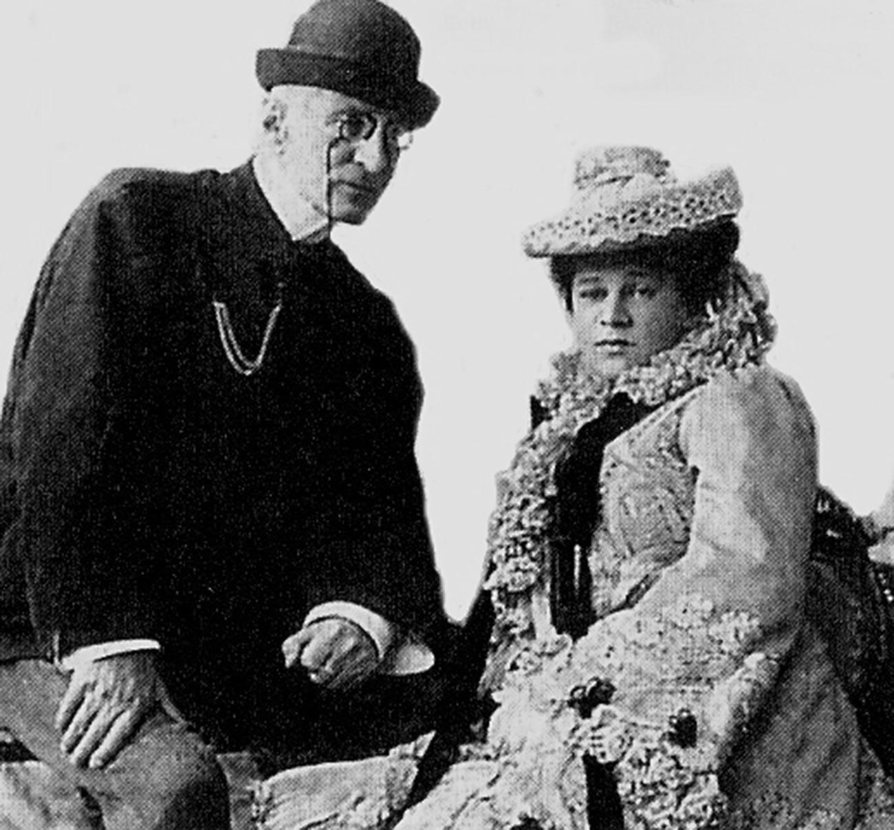 Grand Duke Nicholas Konstantinovich and his wife Nadezhda Dreyer, later the Duchess Iskander