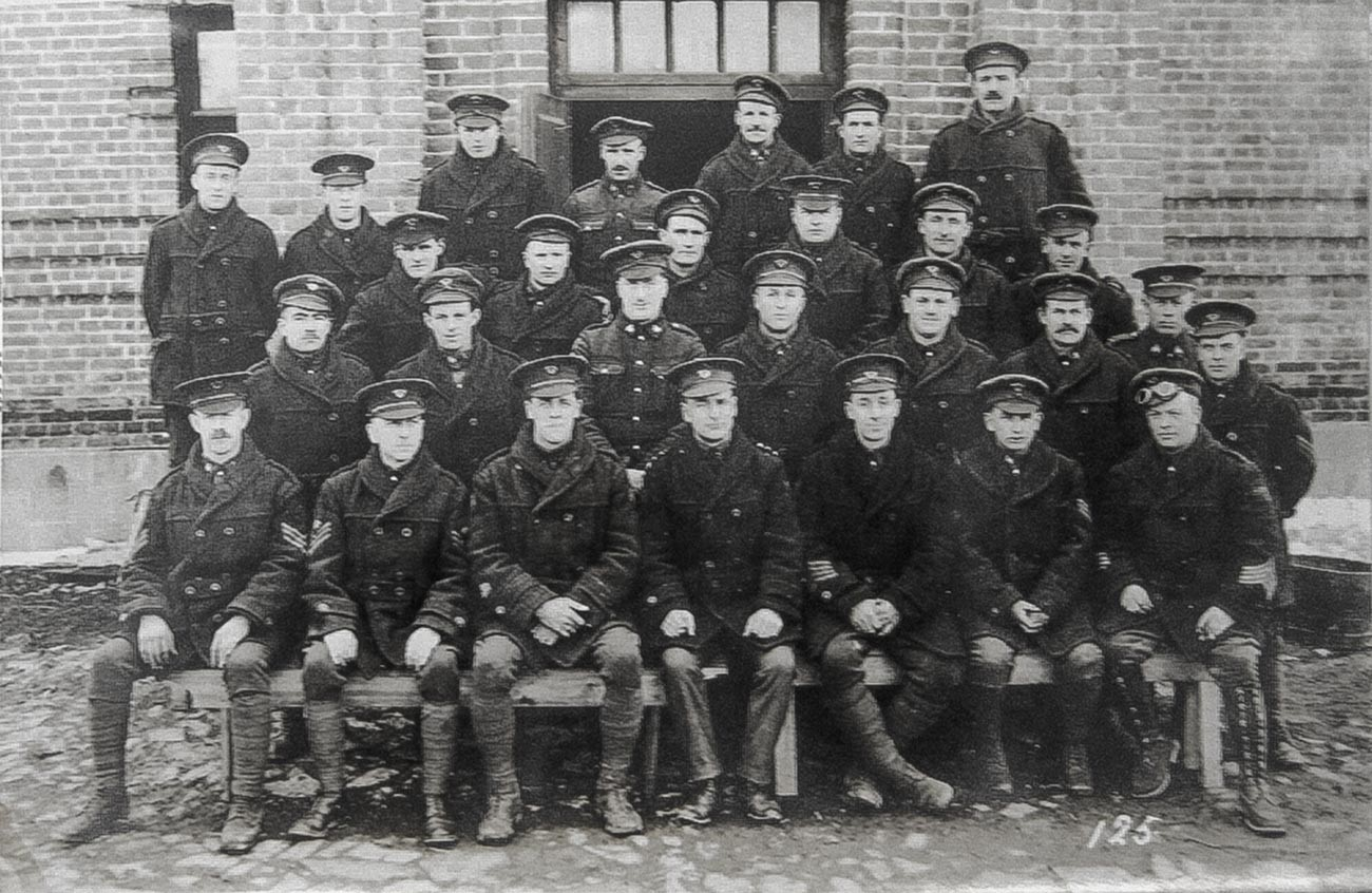 ウラジオストクに駐屯したカナダ人兵士が住んでいたバラック前