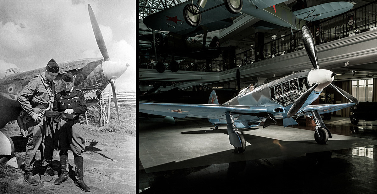 Jak-3, poveljnik eskadrilje Normandija-Niemen, major Jean-Luc Tulasne med brifingom pilotu. Zahodna fronta.