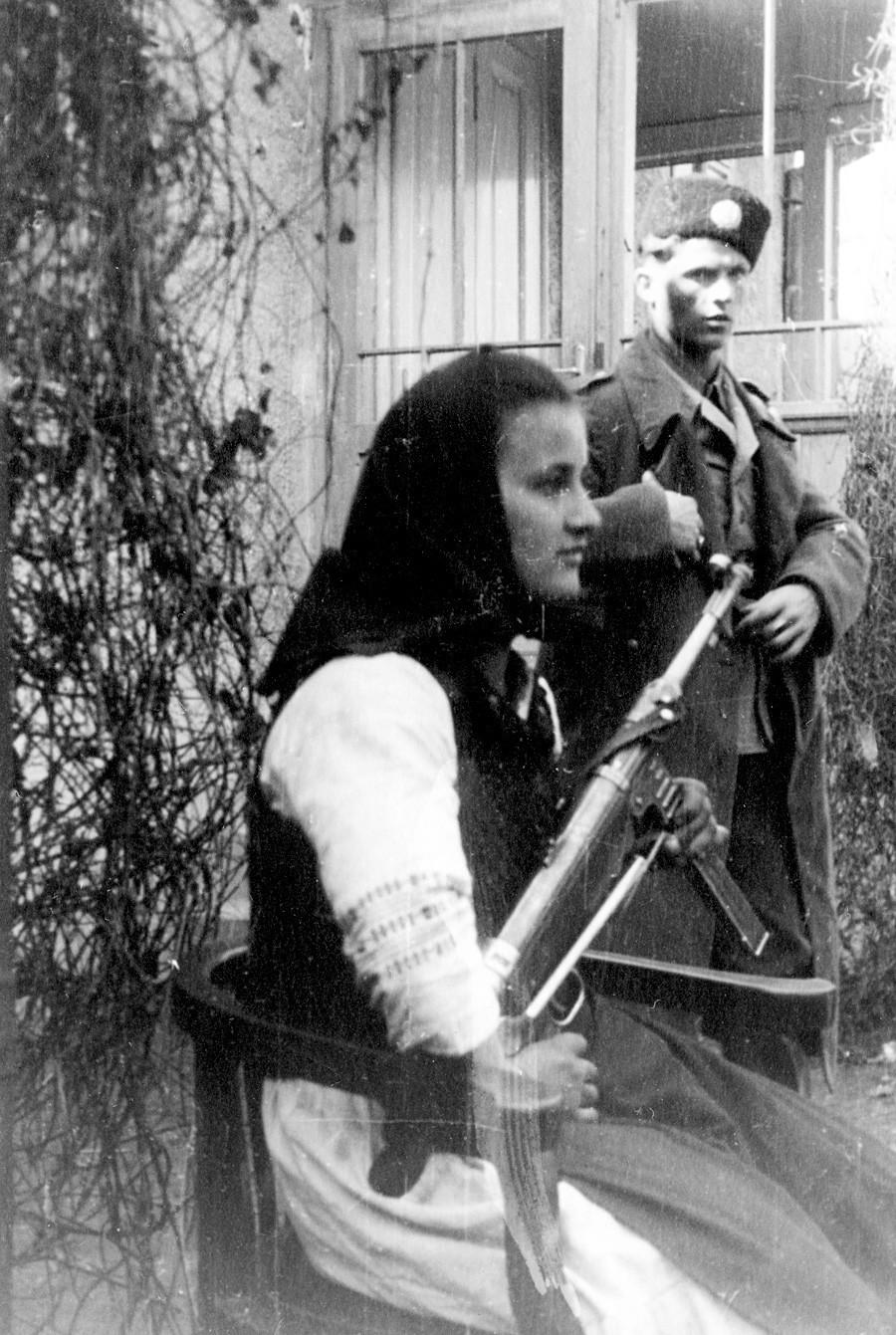 Voluntarios del Ejército Ruso de Liberación (ejército Vlásov), 1944.
