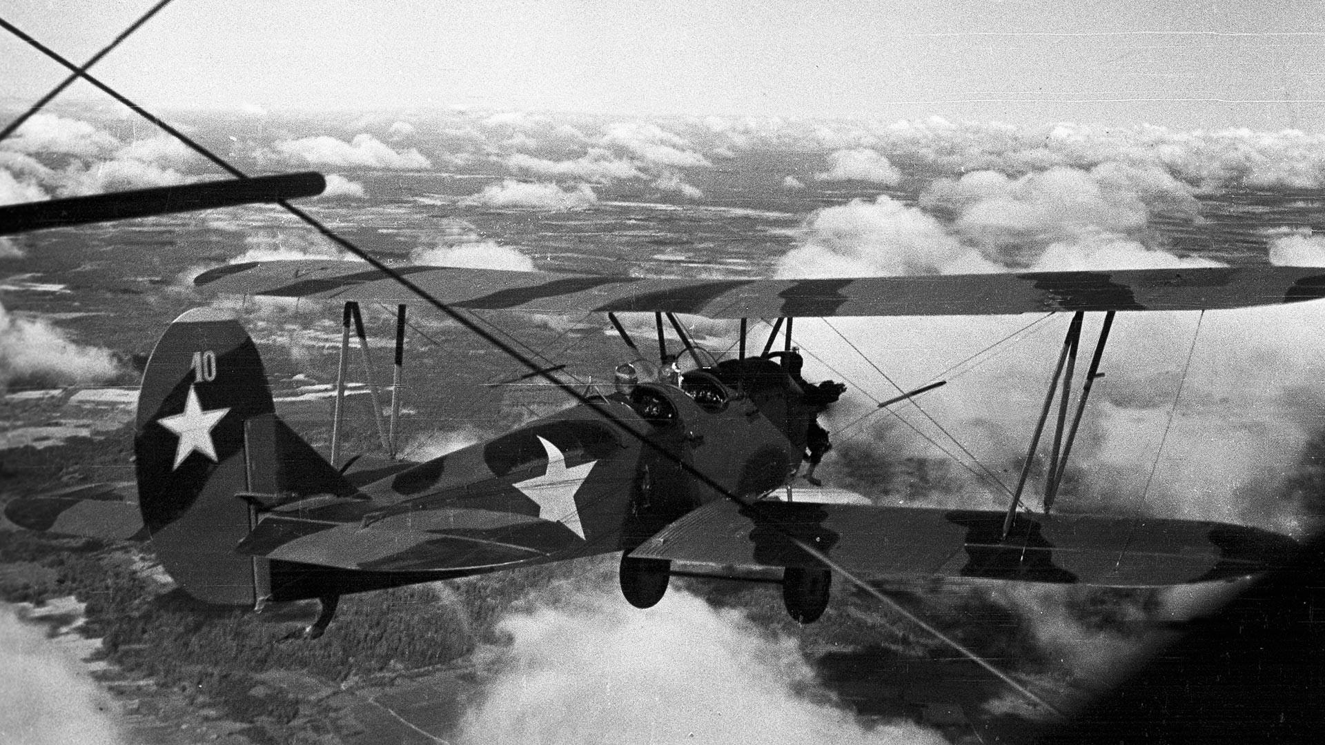 Po-2 u letu.