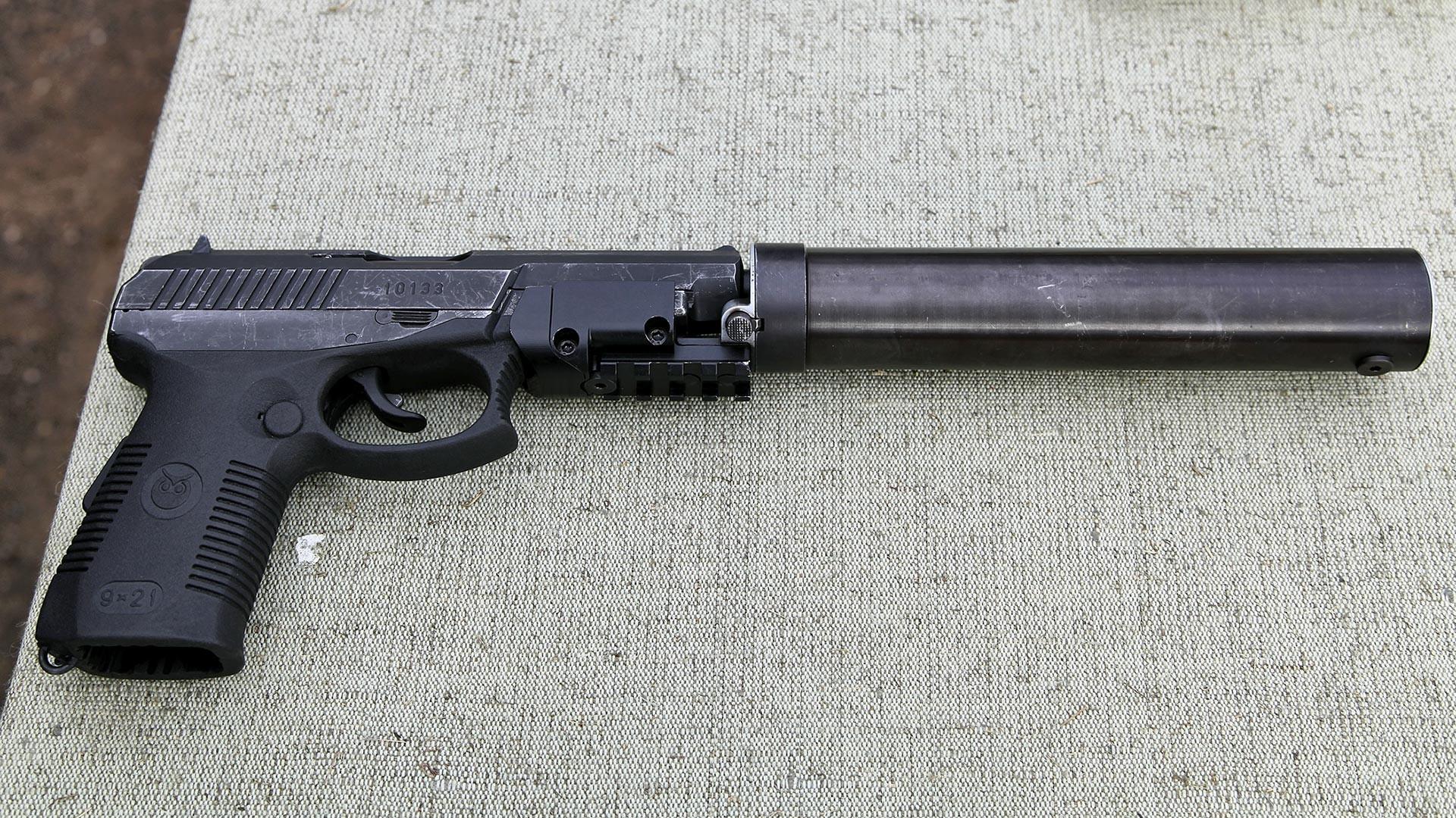 СР-1МП со придушувач и нишанска плочка