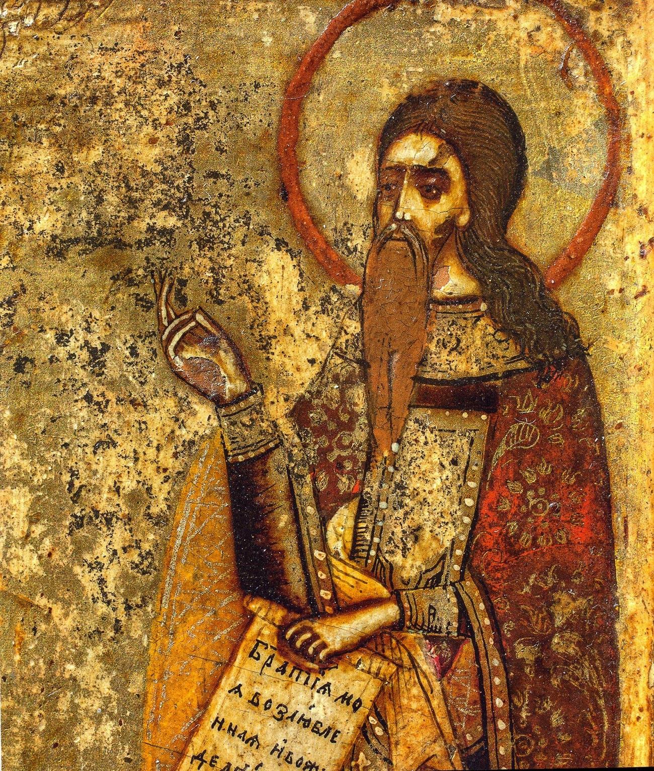 Авакум Петров, фрагмент Поволожске иконе, крај 17. и почетак 18. века.
