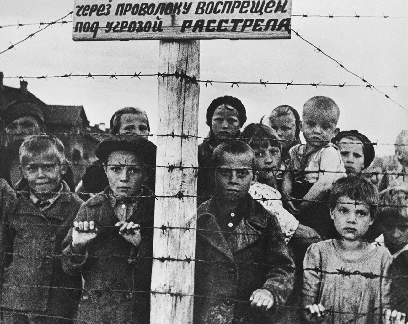 Деца у нацистичком логору