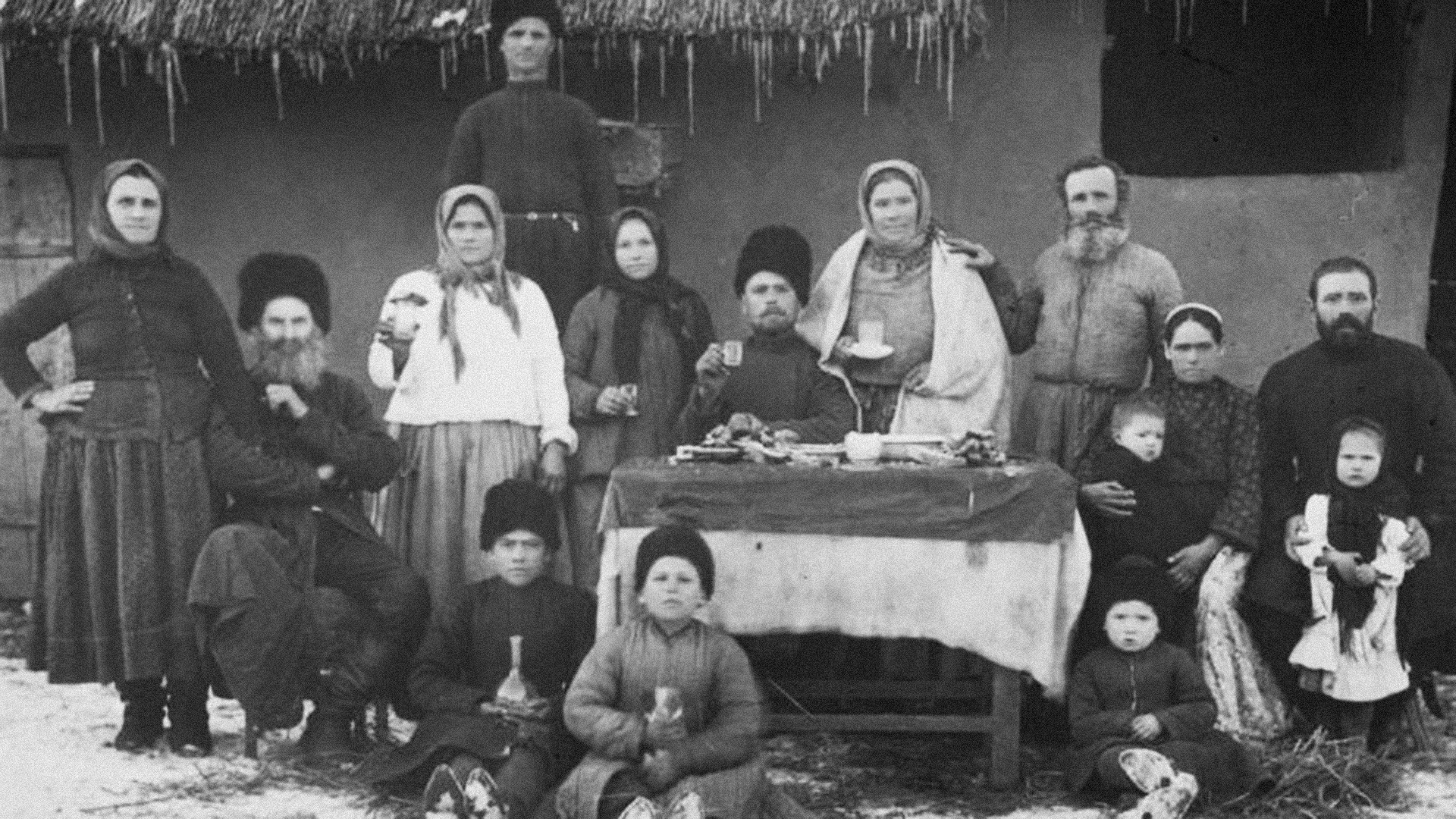 A cossack family portrait, 1900s