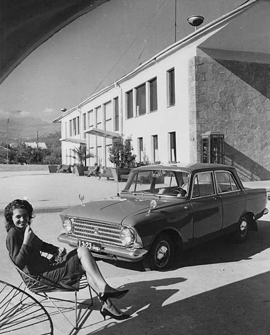 Publicité pour la voiture Moskvitch-408