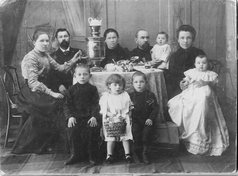 Familia burguesa en la década de 1900.