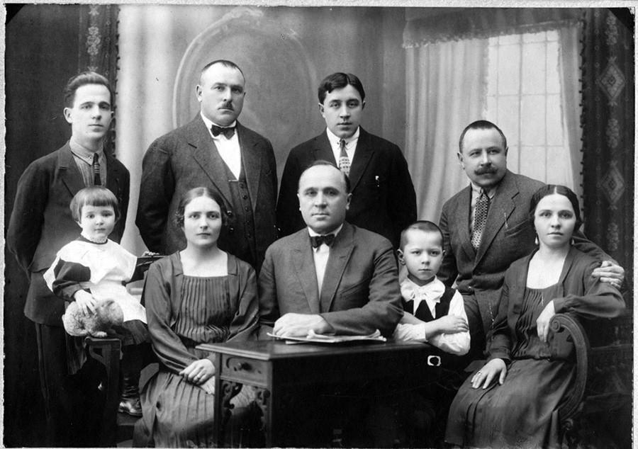 Retrato de familia, 1928.