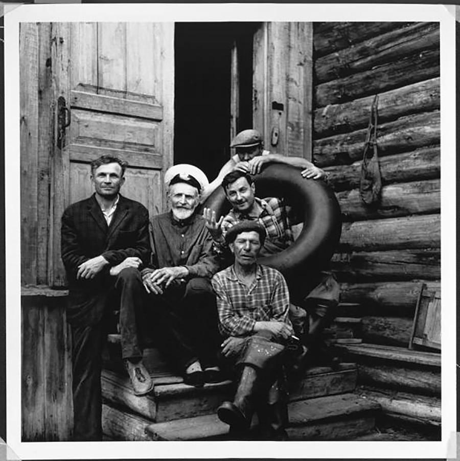 Potret keluarga Solovki Kucherov pada 1960-an