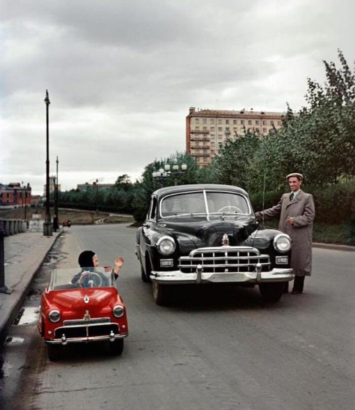 Carro infantil, 1955.