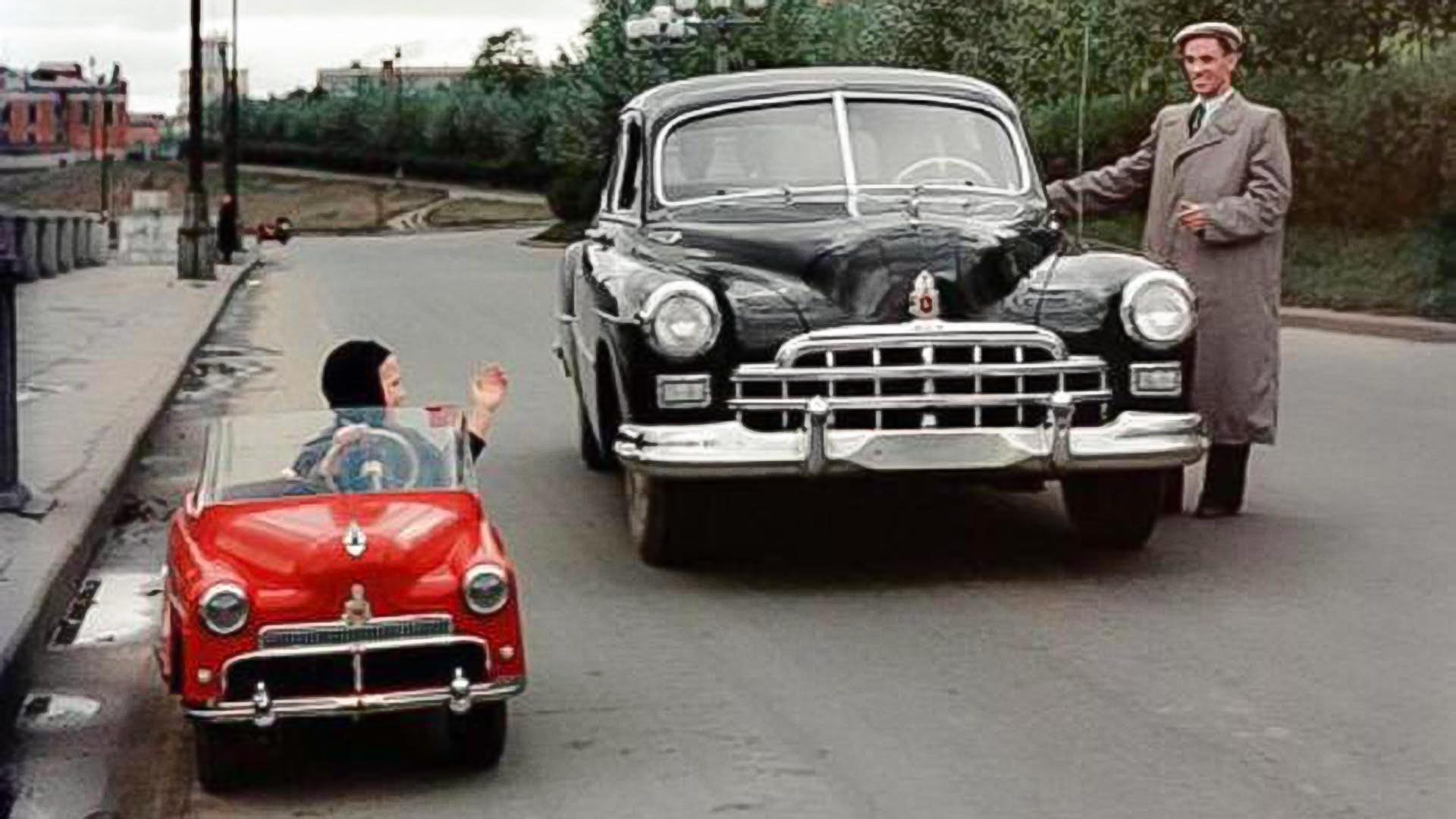 Un auto ligero infantil, 1955