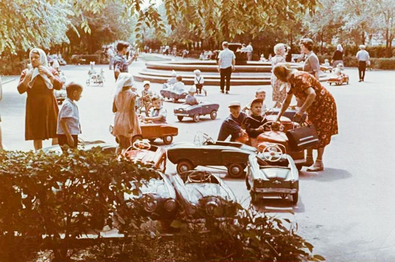 En un parque de Volgogrado, en los años 60.