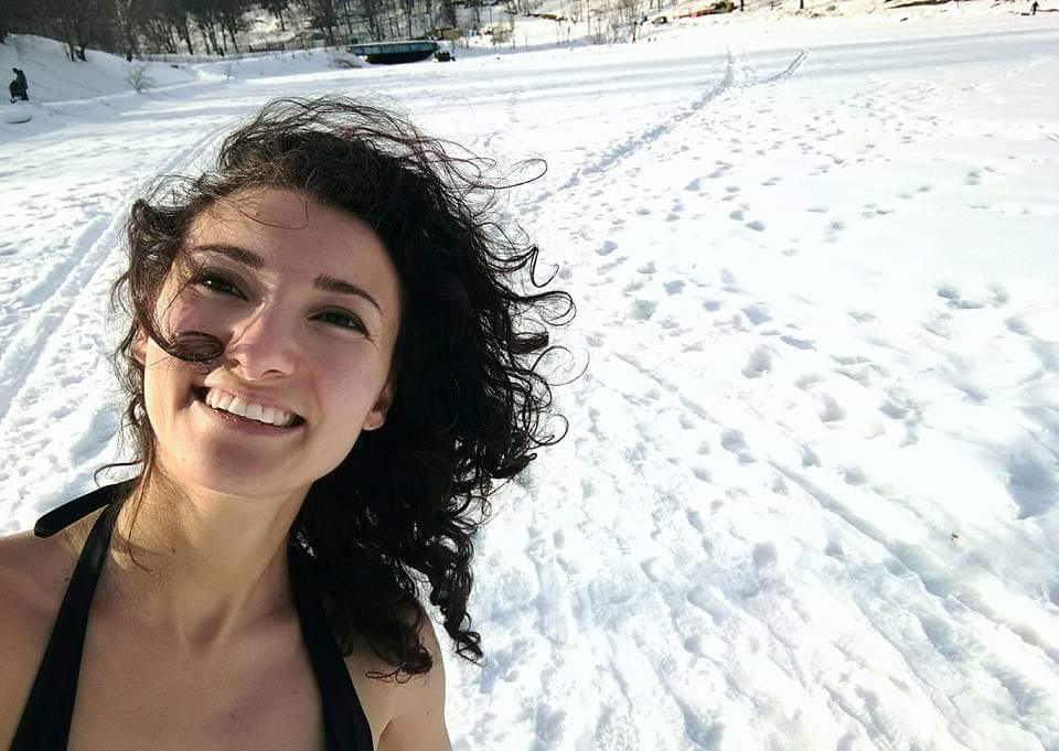Prima di un tuffo nell'acqua gelida a Krasnogorsk, Regione di Mosca