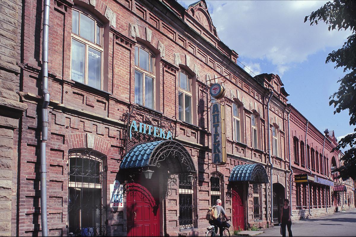 Tcheliabinsk, édifice commercial en brique datant de la fin du XIXe siècle sur la rue Kirov (anciennement rue Oufa).